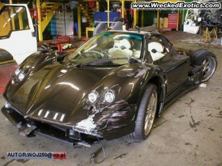 $1 Million Pagani Zonda F Wrecked In Poland