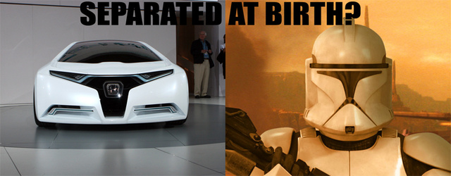 Separated At Birth: Honda FC Concept Vs. Star Wars Clone Trooper