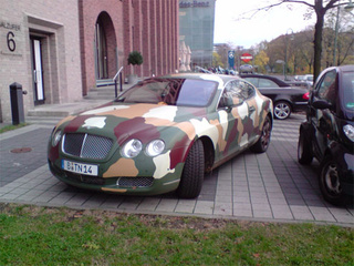 For The Discerning Commando: Camouflage Bentley Continental GT