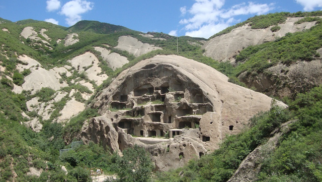 Ancient Cliff Houses of Guyaju, near Zhangshanying, China