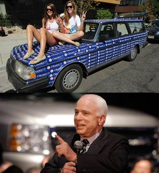 Study Shows McCain Winning Over Hummer Moms, Obama Cleaning Up With Hatchback-Owning Gay Art Students