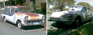 Citroen DS And Holden Wagon Down On The Queensland Street