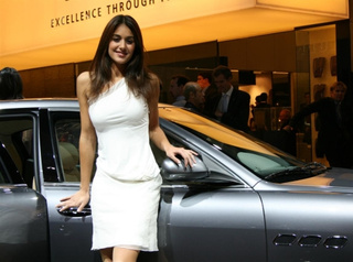 Les Hôtesses Of The 2008 Paris Motor Show