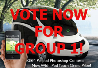 GEM Peapod Photoshop Contest, Rock The Vote: Round One, Group One