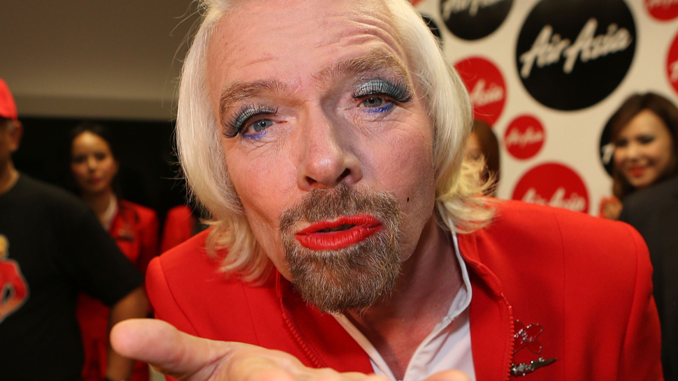 Richard Branson Dresses As Beautiful Lady After Losing F1 Bet