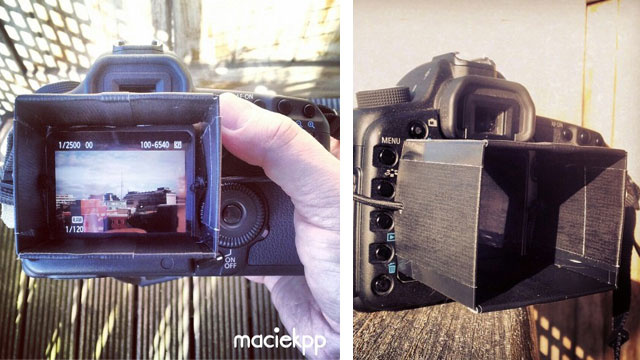 Make a DSLR LCD Hood Out of Old Hotel Key Cards