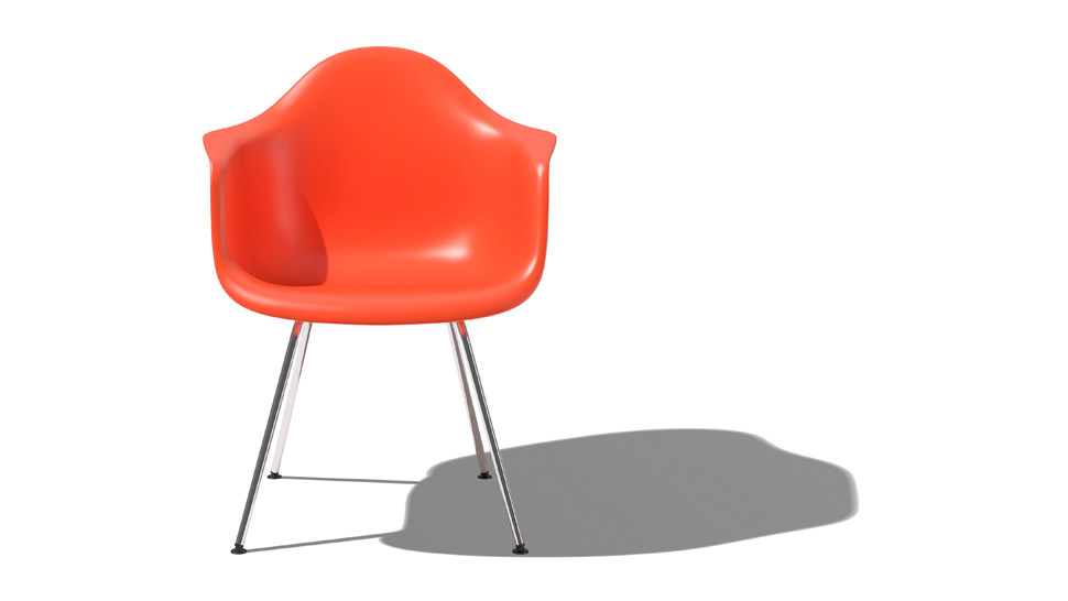 The iconic eames moulded chair is being made with Iconic eames chair