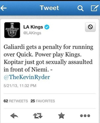 LA Kings Tweet Out Rape Joke, Apologize After