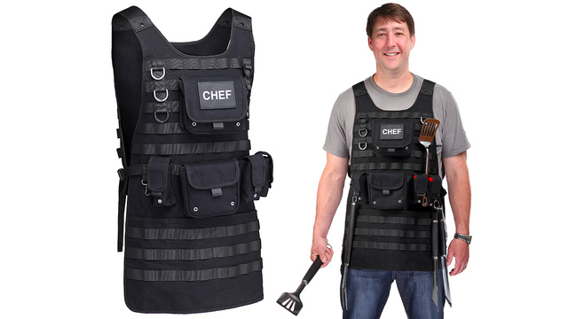 A Tactical Apron For Chefs Who Take Their BBQ Very Seriously