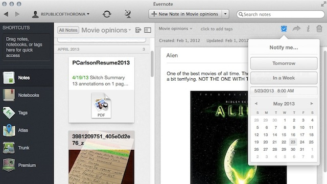 Evernote Adds Easy-to-Use Reminders to ...