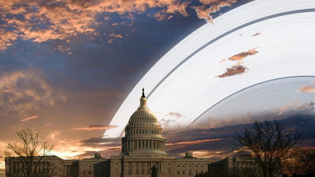 What Life on Earth Would Look Like If Earth Had Rings Like Saturn