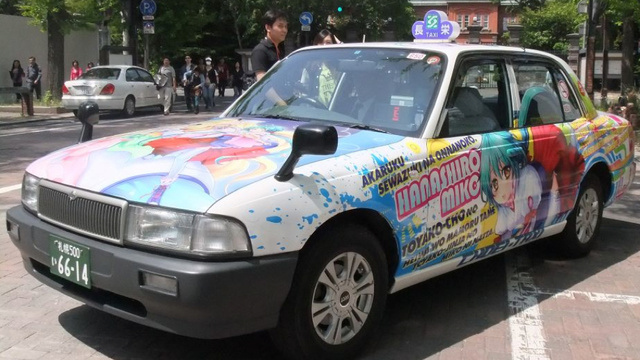 Behold, Japan's Geekiest Taxi Cabs