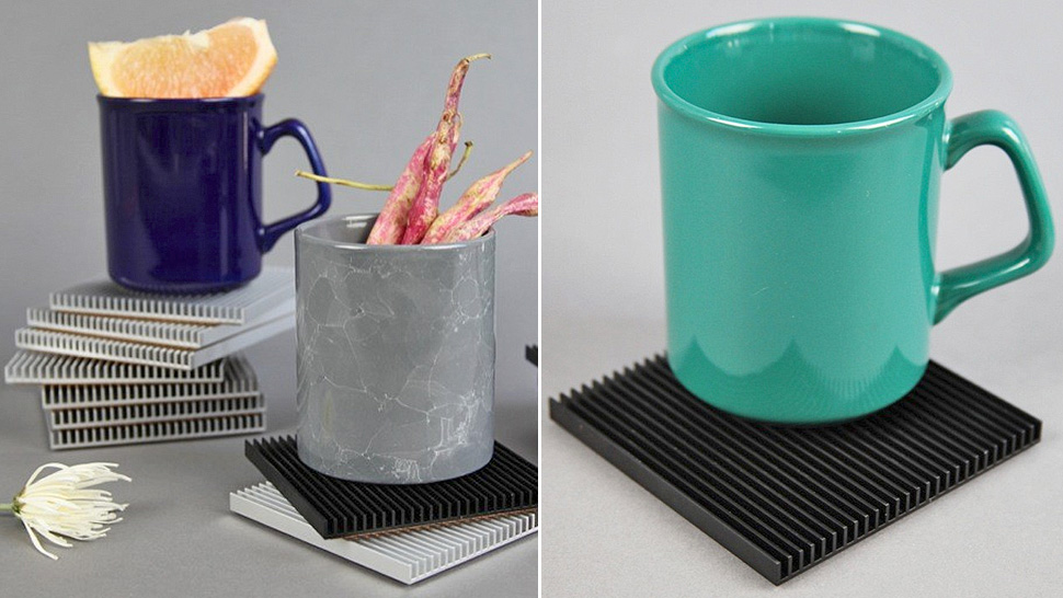Heatsink Coasters Cool Hot Drinks While Protecting Your