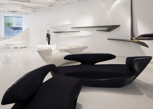 Zaha Hadid's First Storefront Puts a Living Legend Up Close