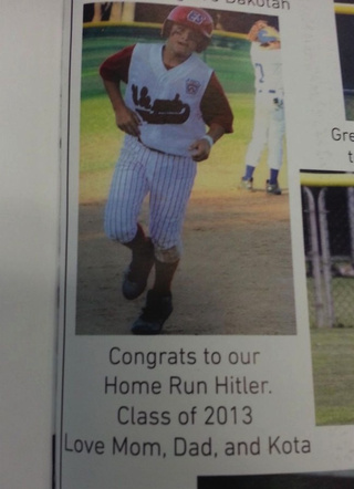 ku medium Yearbook Gaffe: Congrats To Our Home Run Hitler