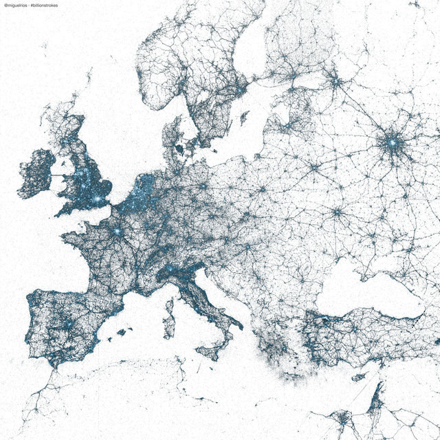These Awesome Maps Show Off All the World's Geo-Tagged Tweets
