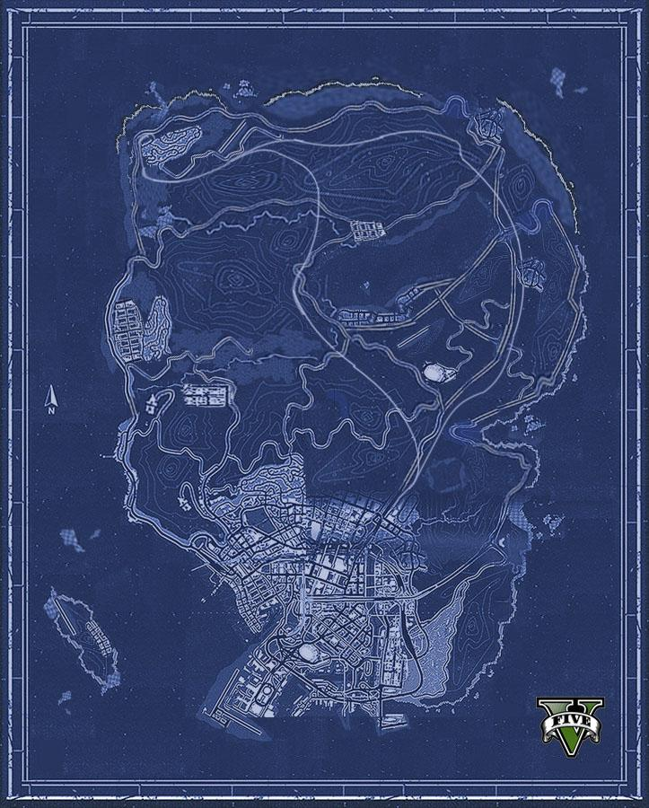 Here's Your First Look At Grand Theft Auto V's Map Of Los