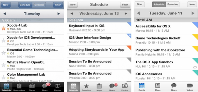 What the New WWDC App Tell Us About iOS 7