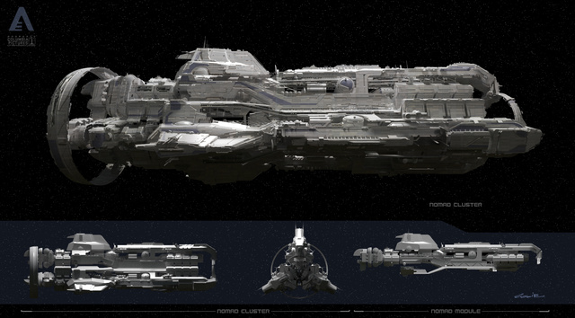 Spaceship concept art that will blow your post-apocalyptic mind