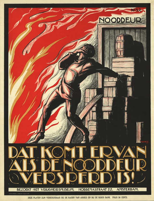 These vintage Dutch safety posters are stunning, completely terrifying