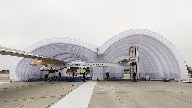 This Giant Inflatable Hangar Is Solar Impulse's Home Away From Home