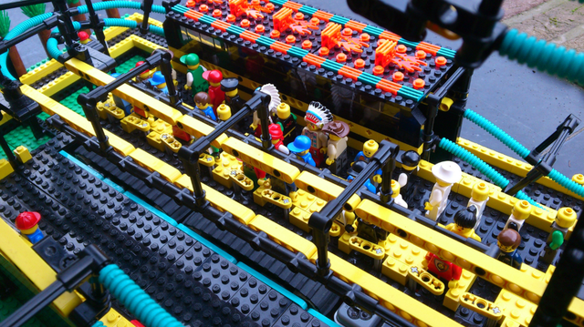 Impressive Build of an Inverted Lego Roller Coaster