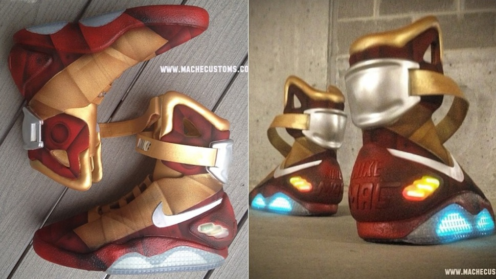 these armoured nike air mags were made for iron man
