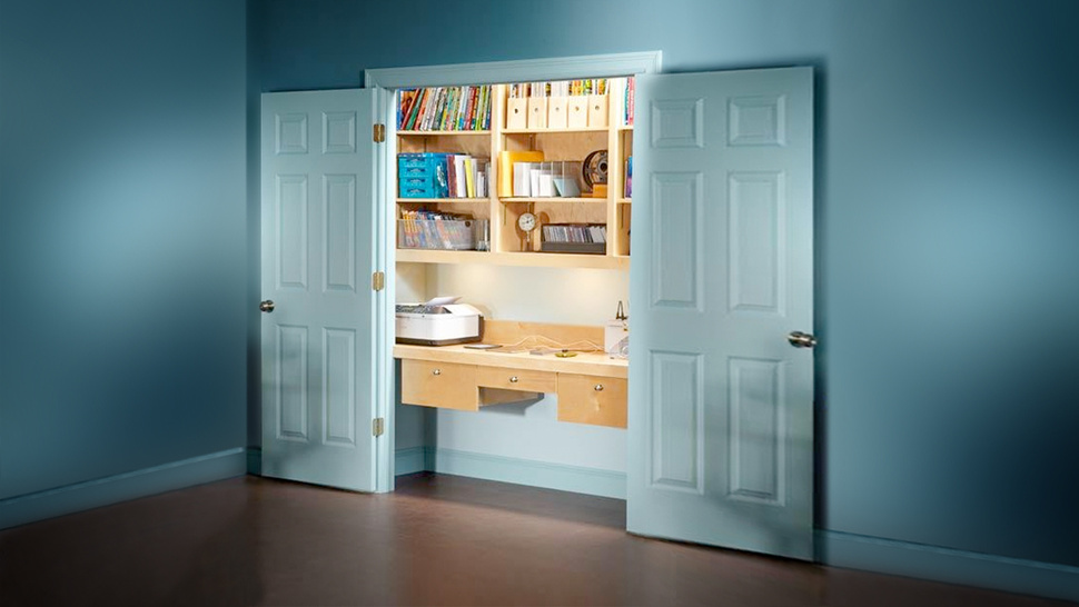 how to turn a spare closet into a home office smiuchin