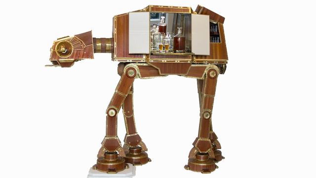AT-AT liquor cabinet, perfect for Sterling Cooper's Death Star office