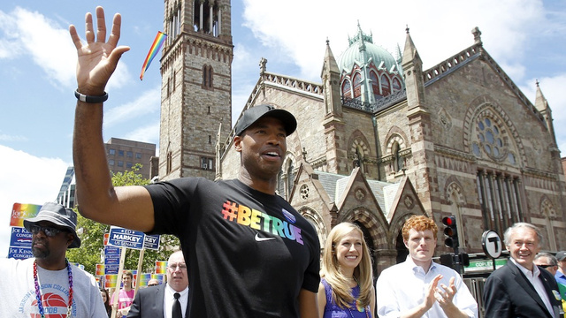 Here's Jason Collins Marching At Boston's Gay Pride Parade