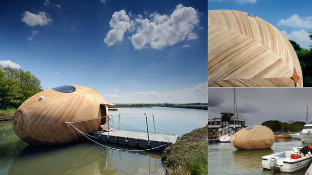 Uh, Why Is an Artist Living Inside a Floating Wooden Egg For a Year?