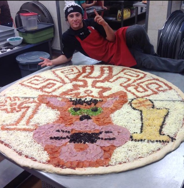 This Is What An Enormous Spurs Pizza Looks Like