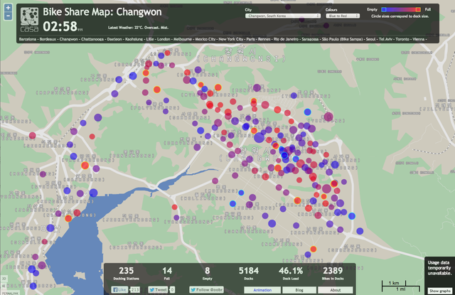Peep This Awesome Real-Time Map of the World's Bike Shares