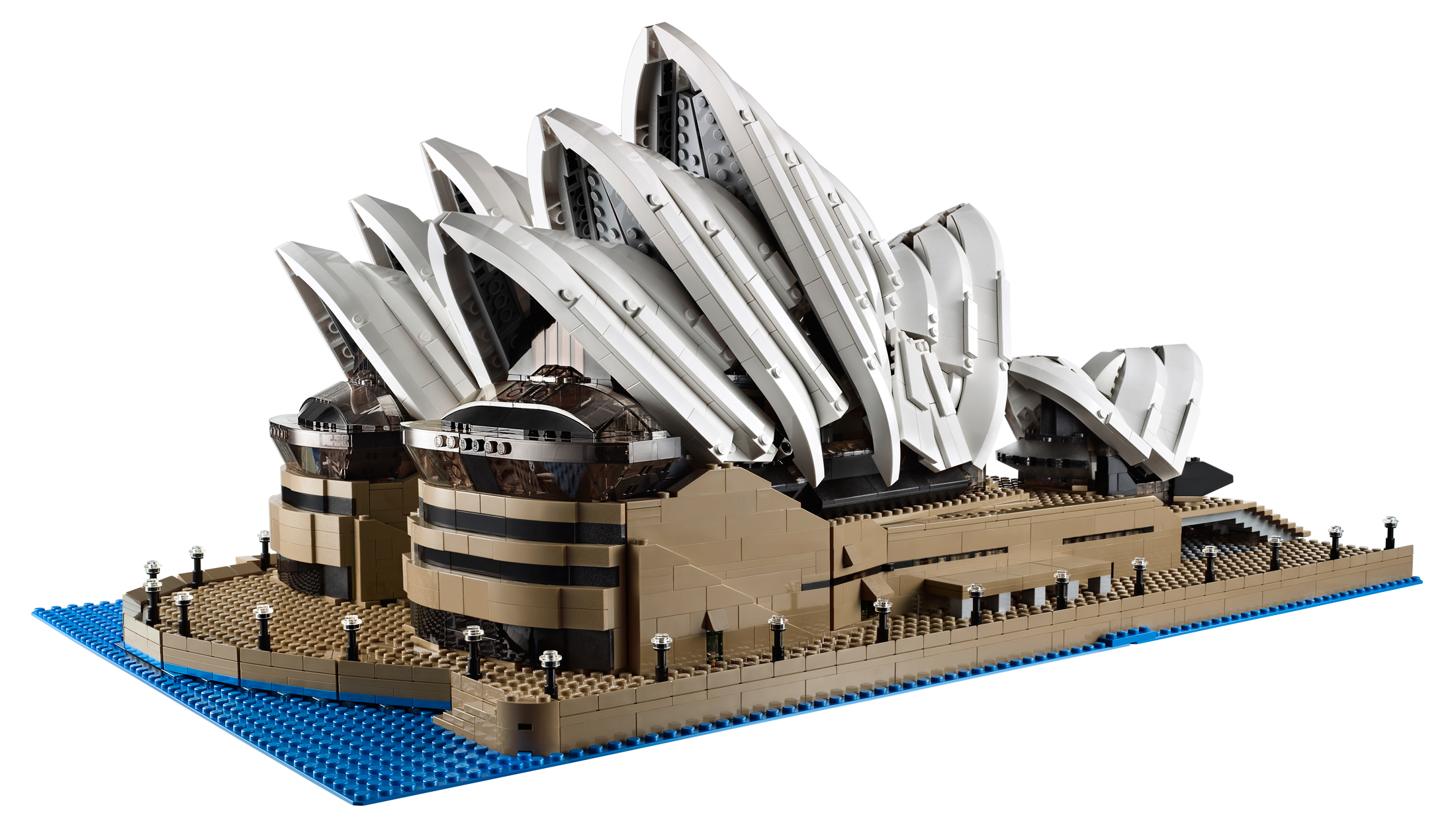 The new lego opera house is huge almost 3000 bricks for Architecture lego