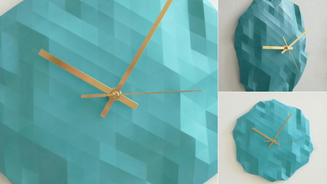 Origami-Inspired Clocks So Attention-Grabbing, You'll Never Run Late