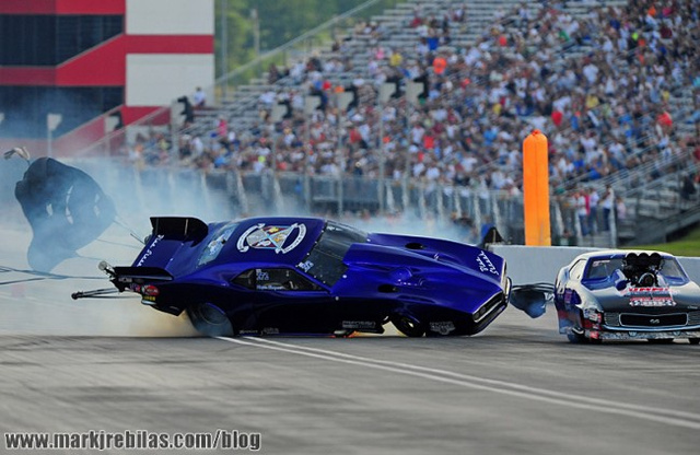 Stunning photos capture 221 MPH race crash