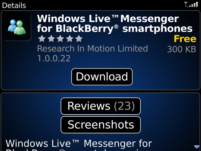 BlackBerry App World Tour and Impressions