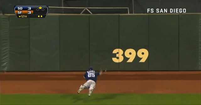 The Padres' Will Venable Made One Of The Best Catches Of The Se…