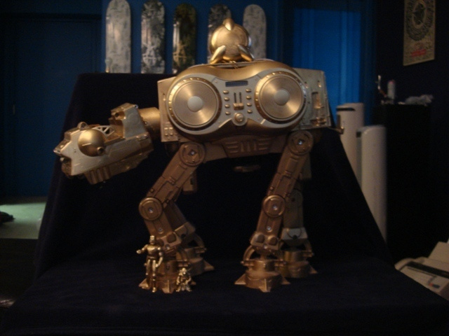 The AT-AT Walker iPod Dock is Golden