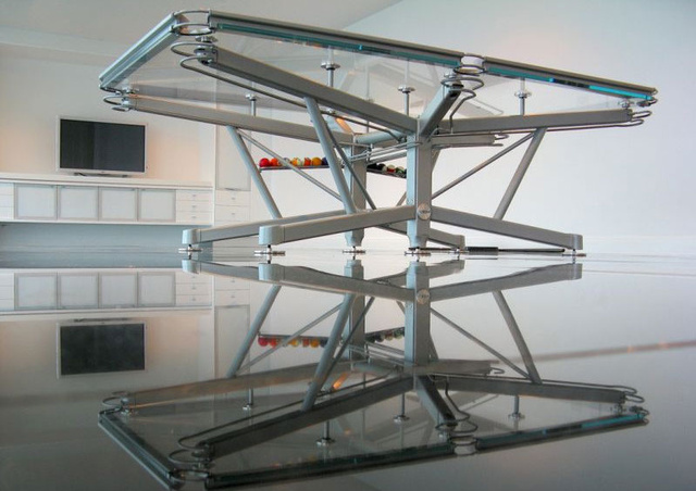 A Glass Pool Table