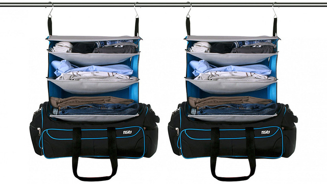 The Perfect Weekend Bag Transforms Into a Pre-Stocked Hanging Shelf