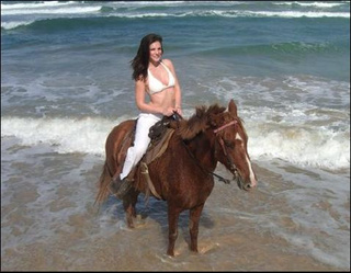 Julia Allison and the Horse She Rode In On