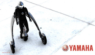 Yamaha Branded Deus Ex Machina Motorcycle Exoskeleton: A Segway On Steroids