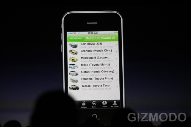 Control Zipcar From Your iPhone