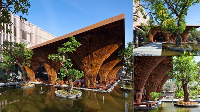 This Soaring Openair Cafe Is Made From Giant Bamboo Fishing Baskets