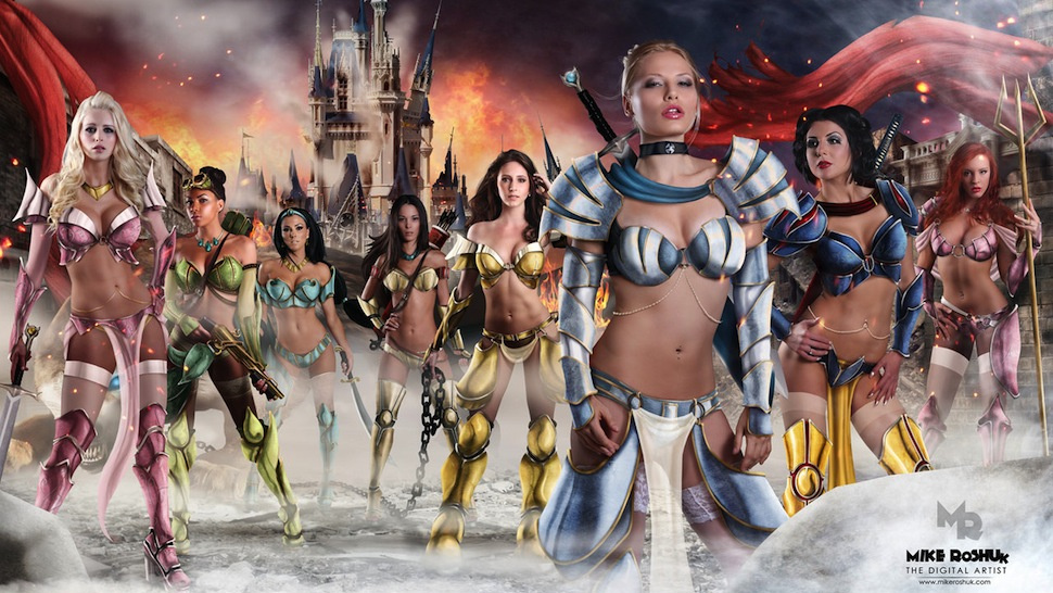 Why, God, why: The Disney Princesses as space warrior-strippers
