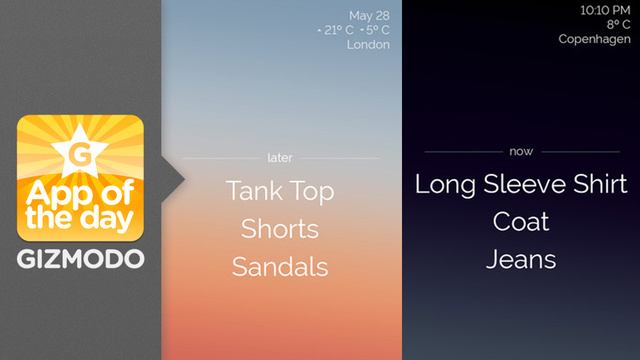 Three for iOS: Never Dress Inappropriately for the Weather Ever Again