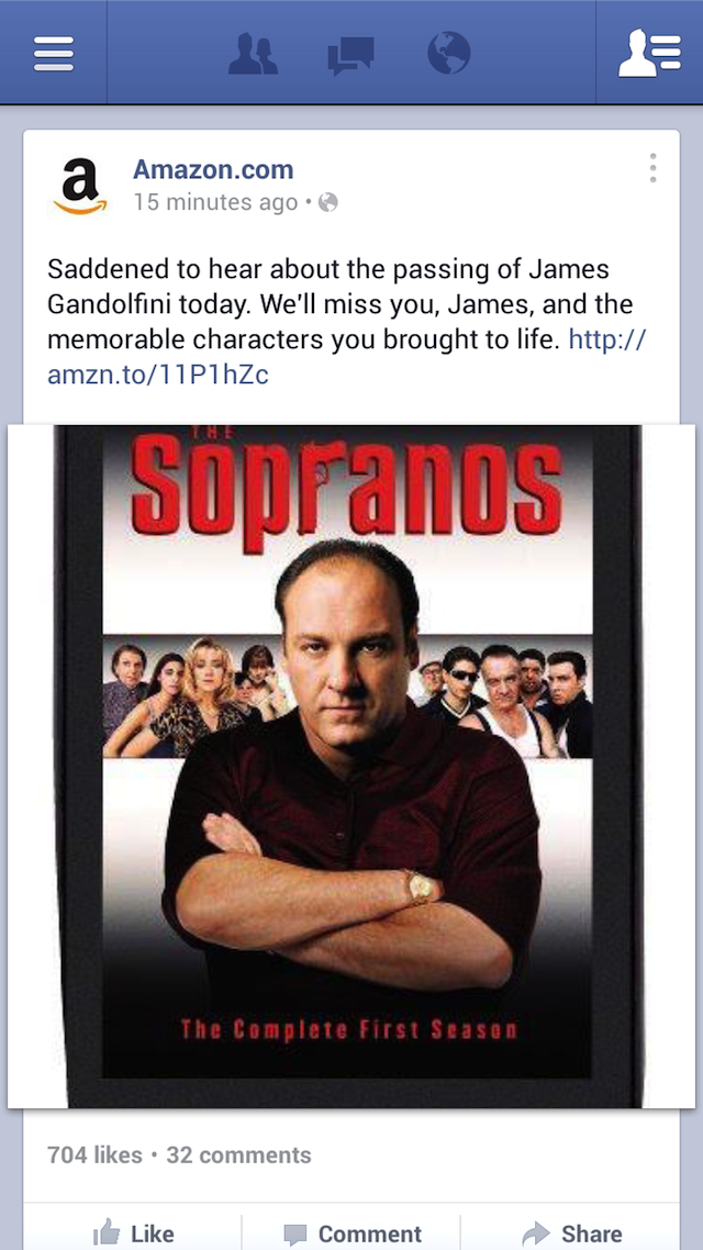 Let's Not Use James Gandolfini's Death to Sell Sopranos DVDs Amazon