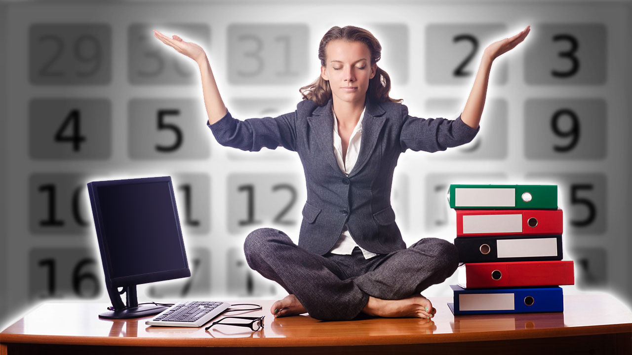 The Office Worker S Schedule For Healthy Living Behind A