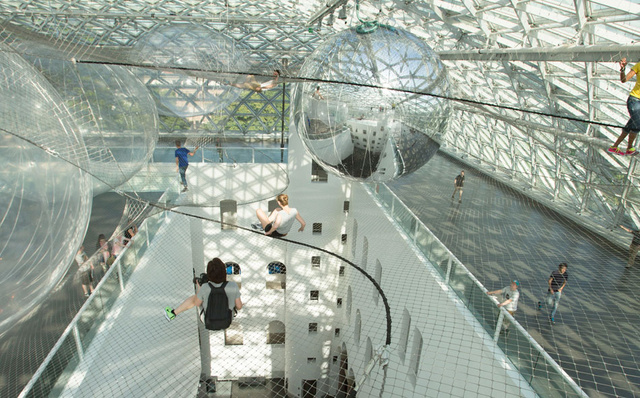 A Space-Inspired Floating Playground That Puts Visitors Into Orbit